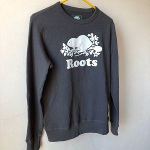 NWOT ROOTS Original Crew Sweatshirt - Dark Grey XS